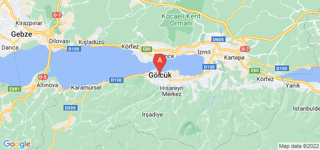 map of Gölcük, Turkey