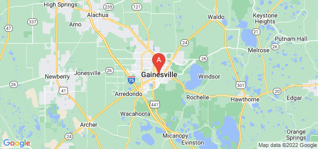map of Gainesville, United States of America