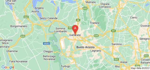 map of Gallarate, Italy