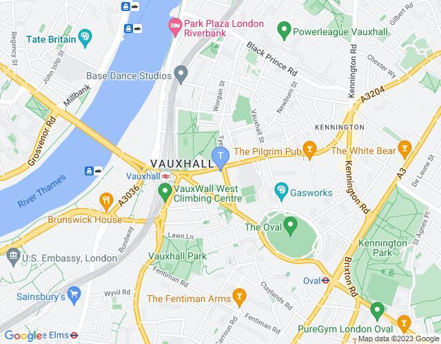 Location map for Garden Theatre