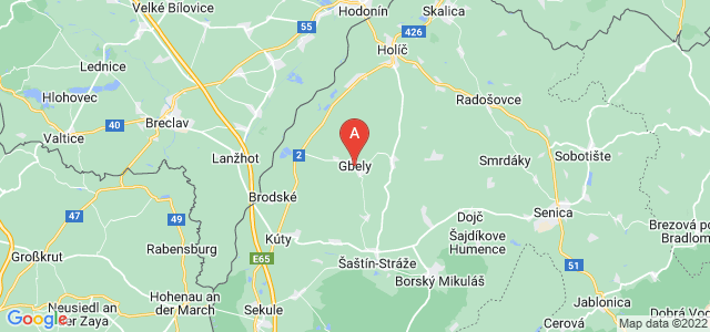 map of Gbely, Slovakia