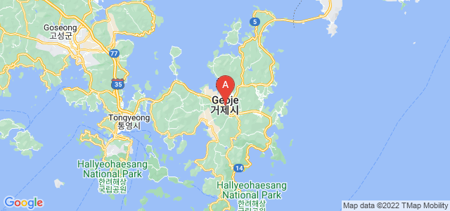 map of Geoje, South Korea