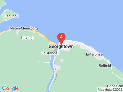 map of Georgetown, Guyana