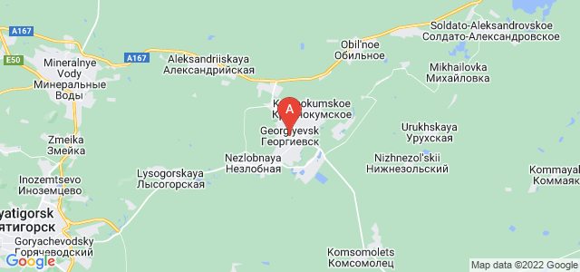 map of Georgiyevsk, Russia