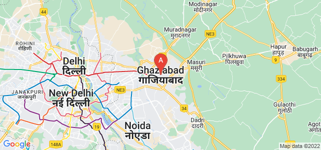 map of Ghaziabad, India