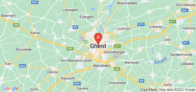 map of Ghent, Belgium