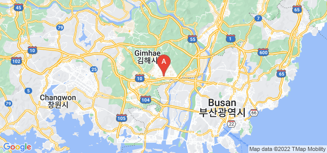 map of Gimhae, South Korea