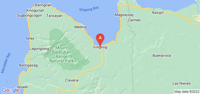 map of Gingoog, Philippines