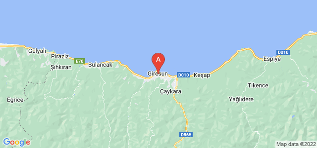 map of Giresun, Turkey