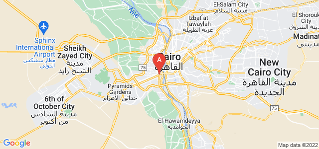 map of Gizeh, Egypt