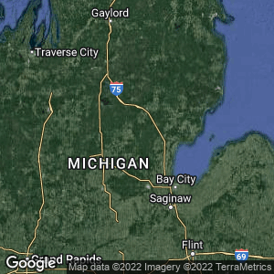Static Map of Gladwin County, Michigan