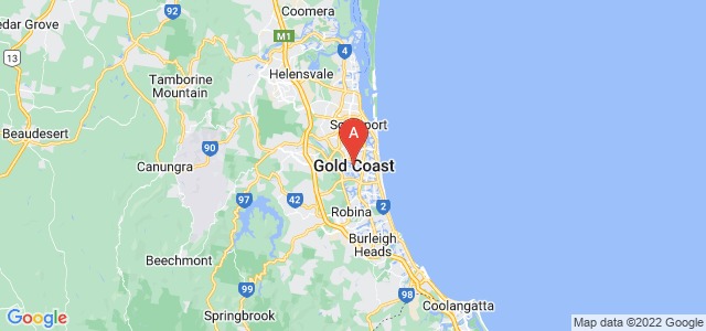 map of Gold Coast, Australia