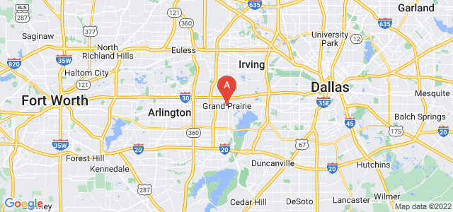 map of Grand Prairie, United States of America