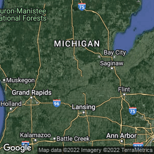 Static Map of Gratiot County, Michigan