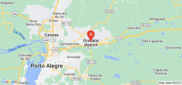 map of Gravataí, Brazil