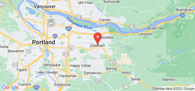 map of Gresham, United States of America