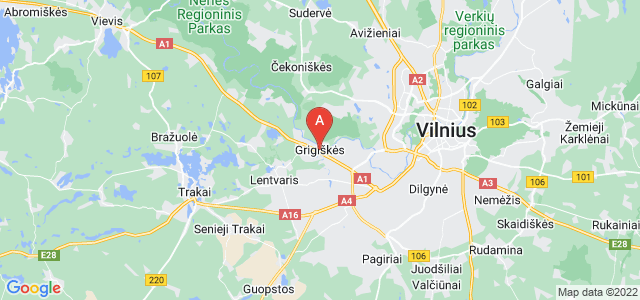 map of Grigiškės, Lithuania