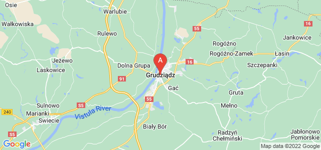 map of Grudziądz, Poland