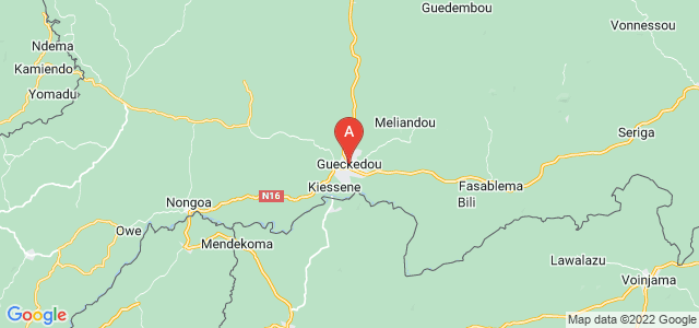 map of Guéckédou, Guinea