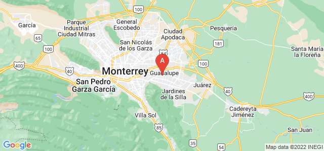 map of Guadalupe, Mexico
