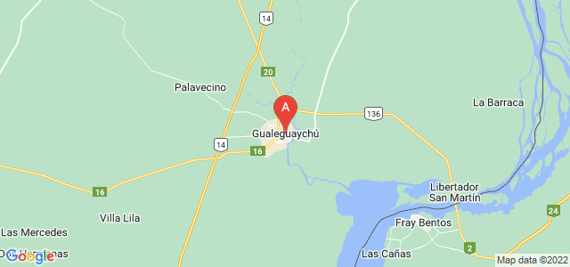 map of Gualeguaychú, Argentina