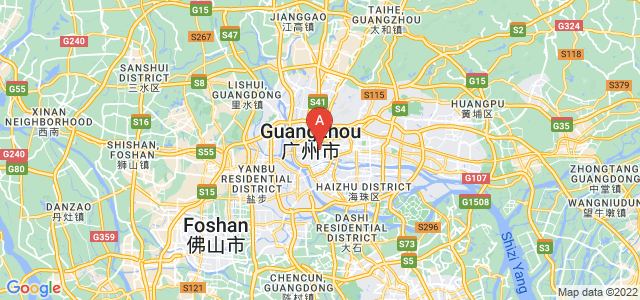 map of Guangzhou, China
