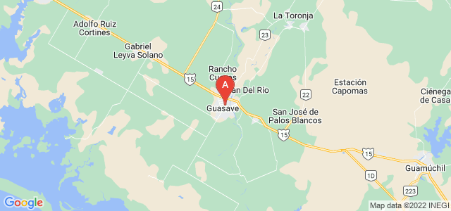 map of Guasave, Mexico