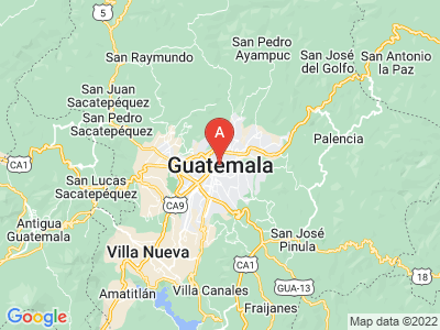 map of Guatemala City, Guatemala