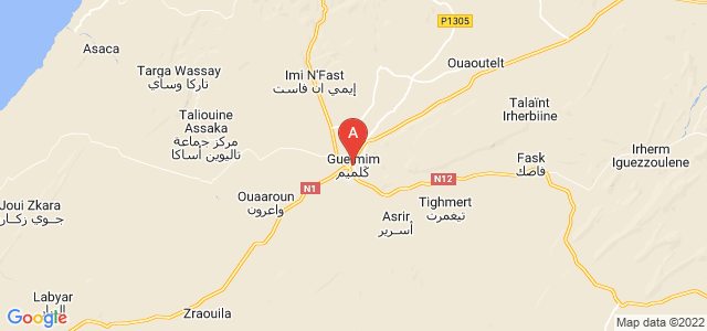 map of Guelmim, Morocco