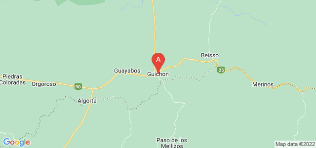 map of Guichón, Uruguay