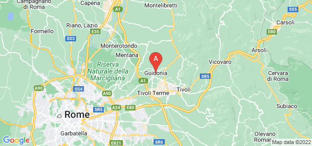 map of Guidonia Montecelio, Italy