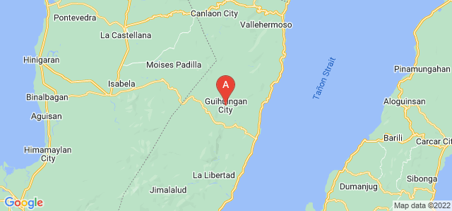 map of Guihulngan, Philippines