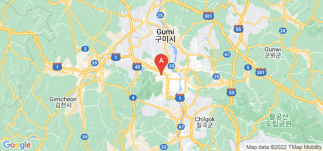 map of Gumi, South Korea