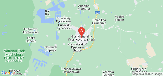 map of Gus-Khrustalny, Russia