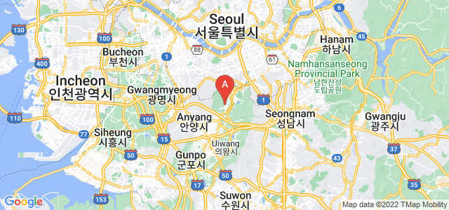 map of Gwacheon, South Korea