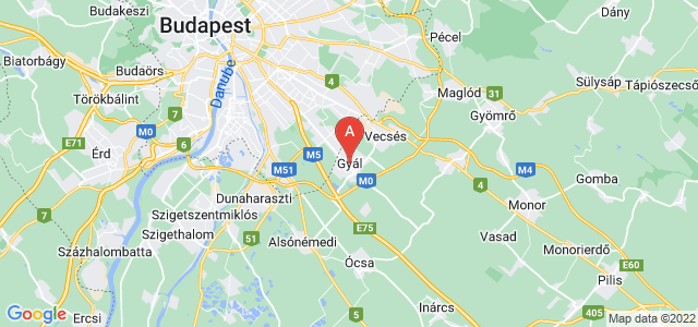 map of Gyál, Hungary