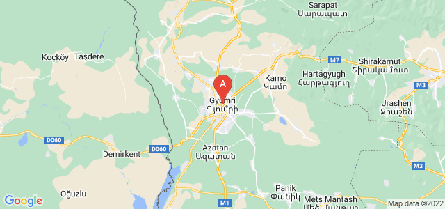 map of Gyumri, Armenia