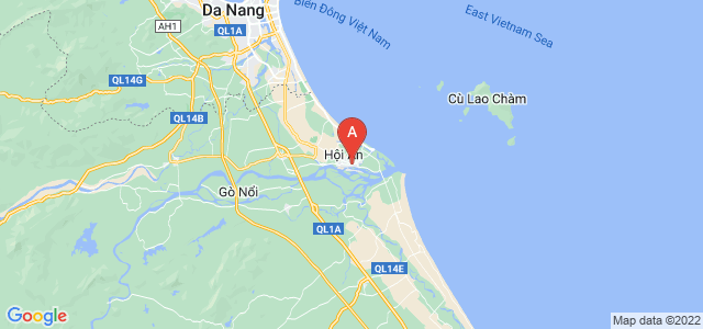 map of Hội An, Vietnam