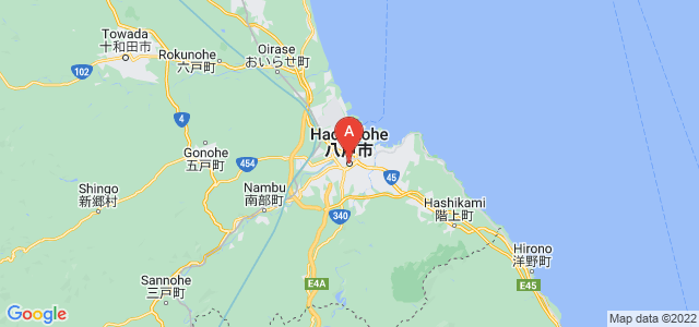 map of Hachinohe, Japan