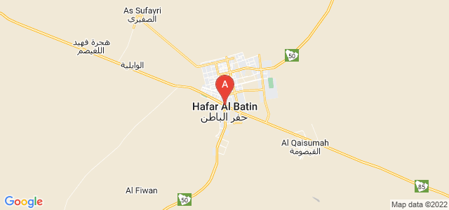 map of Hafar Al-Batin, Saudi Arabia