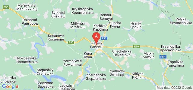 map of Haisyn, Ukraine