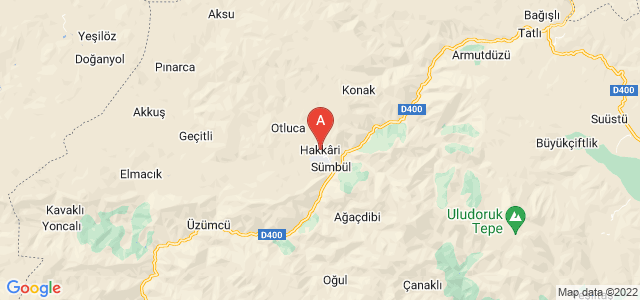map of Hakkâri, Turkey