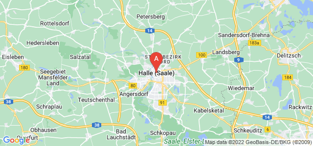 map of Halle, Germany
