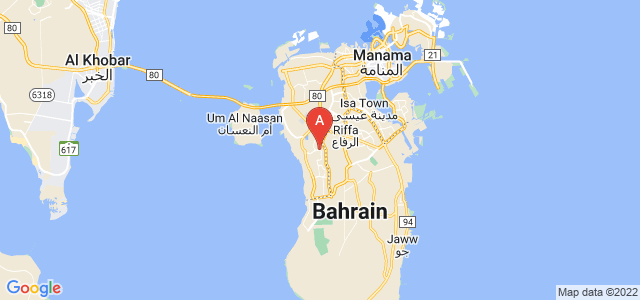 map of Hamad Town, Bahrain
