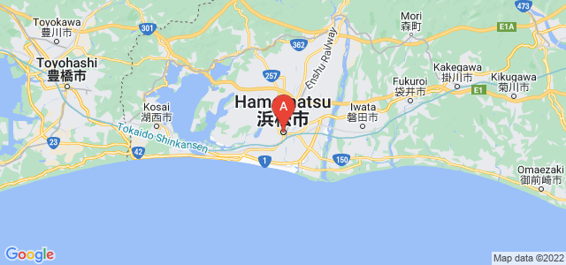 map of Hamamatsu, Japan