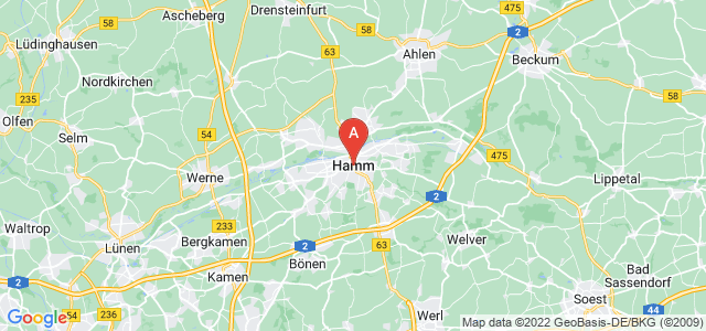 map of Hamm, Germany
