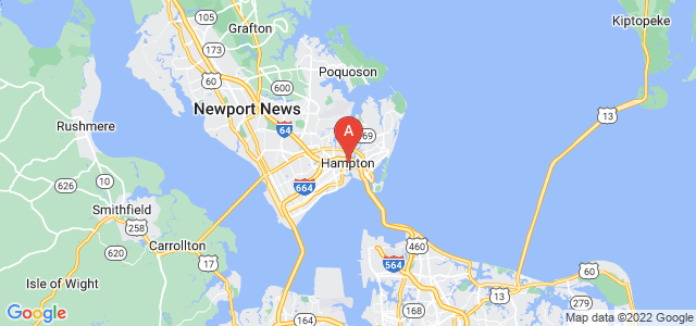 map of Hampton, United States of America