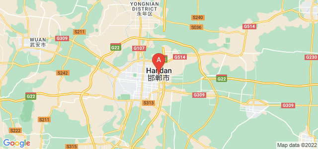 map of Handan, China