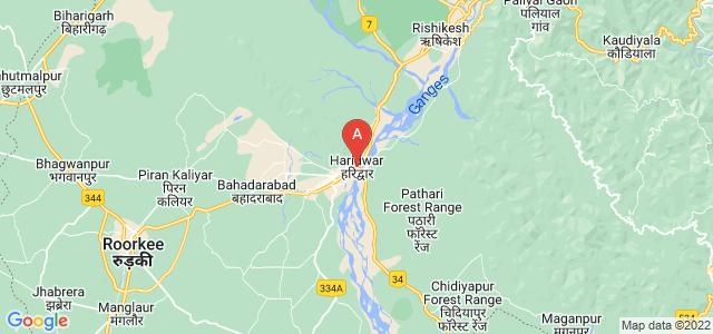 map of Haridwar, India