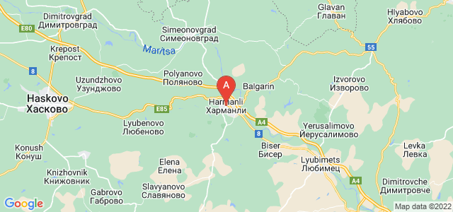 map of Harmanli, Bulgaria